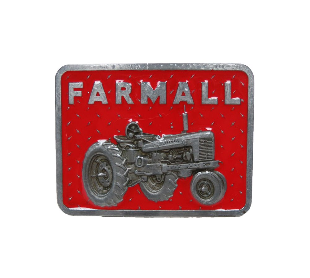 Red Tractor Plate Outlit : Red diamond plate ih farmall with `h` tractor on pewter