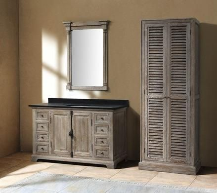 Going Gray Aged Wood Bathroom Vanities For A Natural Antique Look - Antique grey bathroom vanity