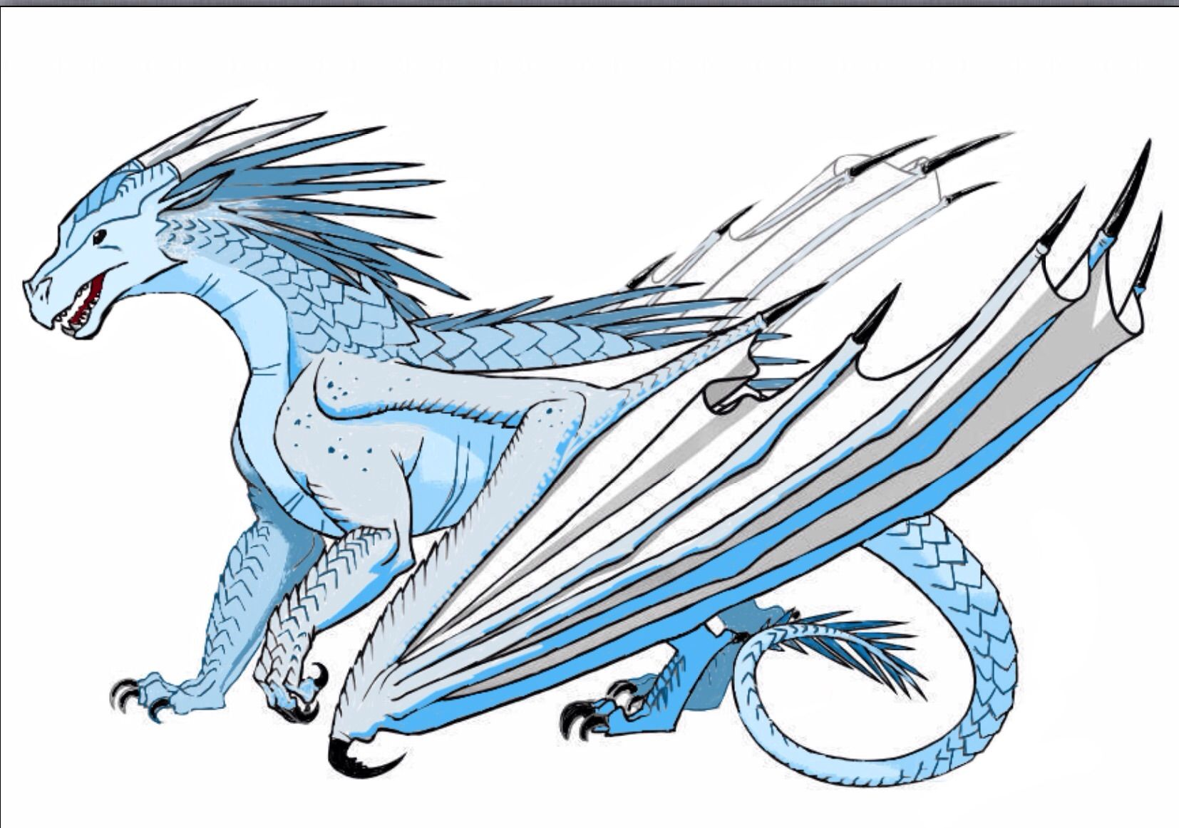 Image Result For Ice Dragon Wings Of Fire Wings Of Fire Dragons