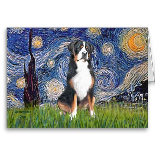 Starry Night Greater Swiss Mountain Dog