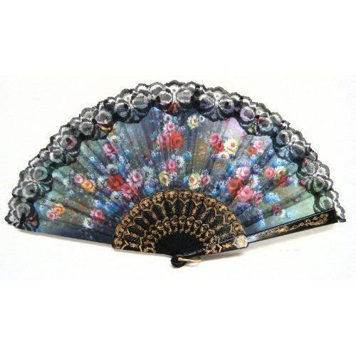 Spanish Flamenco Dancer Lady Folding Parasol Lace Hand Fan Wedding Party Props