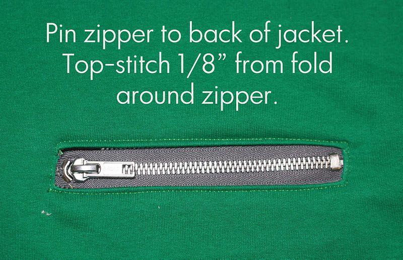 Running With Scissors: Exposed Zipper Pocket Tutorial {Bomber Jacket}