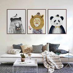 Art Print Poster Watercolor lion