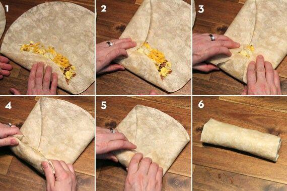 How To Fold A Burrito Frozen Breakfast Breakfast Burritos Breakfast Burritos Frozen