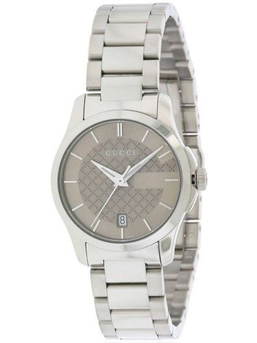 43e3d4f0f54 Gucci G-Timeless Brown Dial Stainless Steel Ladies Watch YA126526 ...