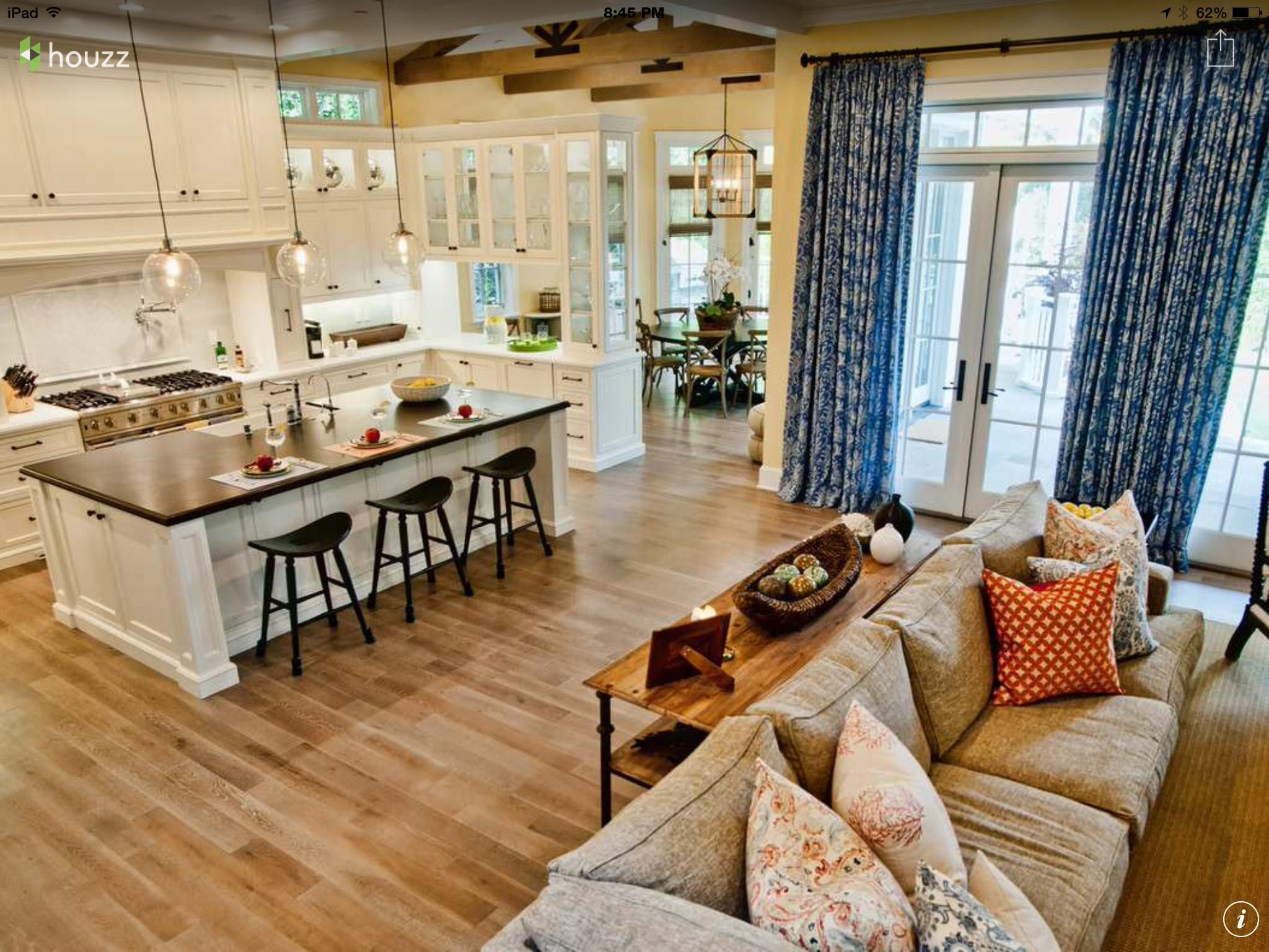 Open Floor Plan Kitchen And Living Room Ideas