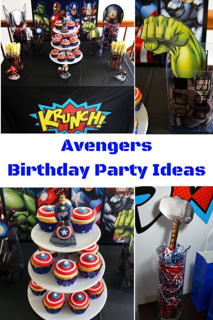 Avengers Birthday Party Birthday party ideas Birthdays and Super