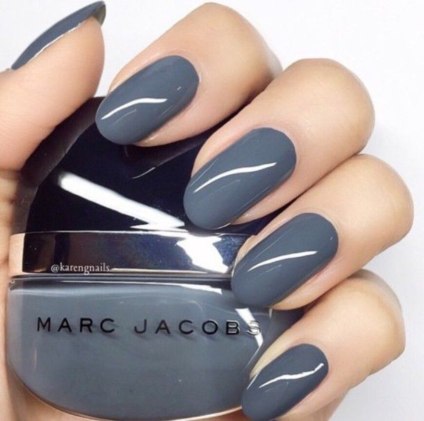 Grey #nailpolish | Cute Nails | Pinterest | Kiss makeup, Nail stuff ...