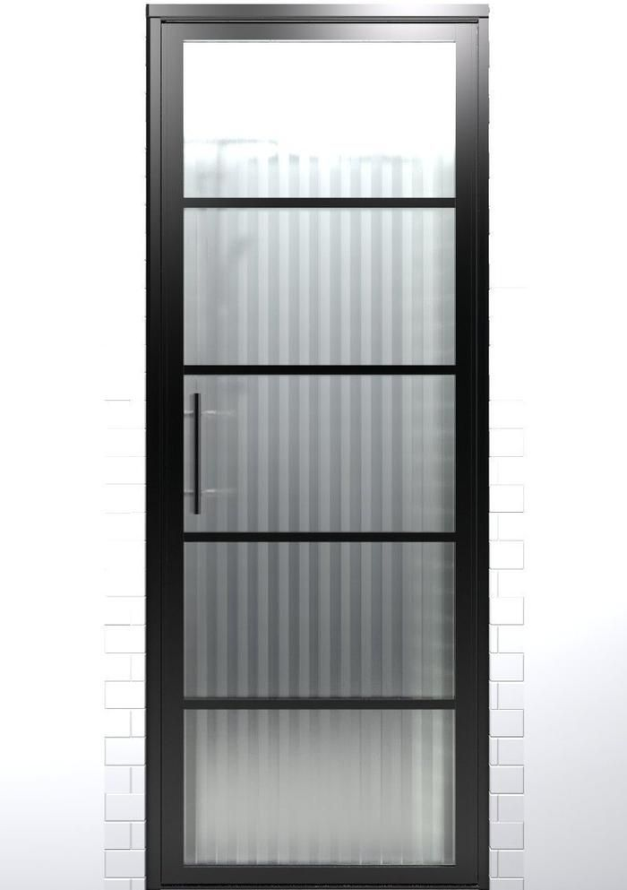 Black Frame Hinged Shower Doors With Grids Gridscape By Coastal