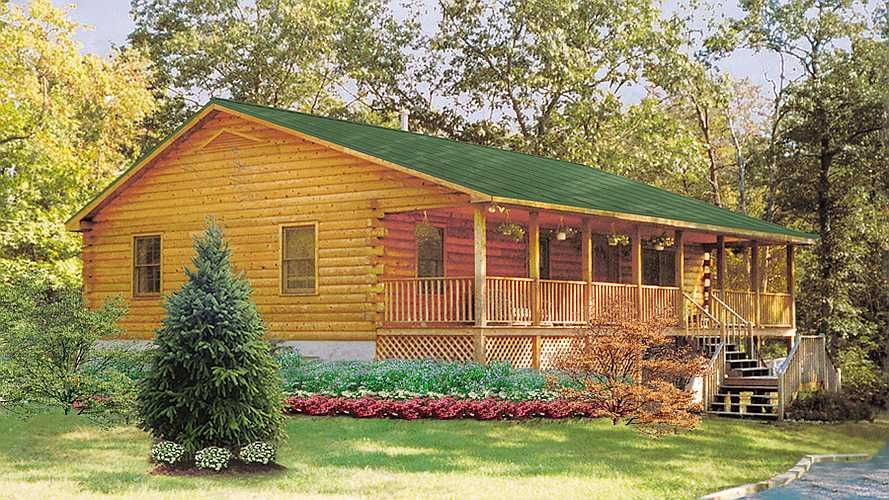 The Perfect 3 Bedroom Ranch Log Cabin You Can Build Or We Build For You In Any State In The Usa The Log Cabin Plans Log Home Designs Log Cabin Floor Plans