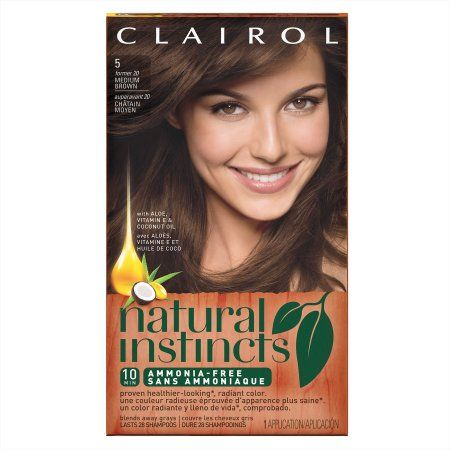Clairol Natural Instincts Semi Permanent Hair Color, Medium Brown, 5/20   Walmart.com Gallery