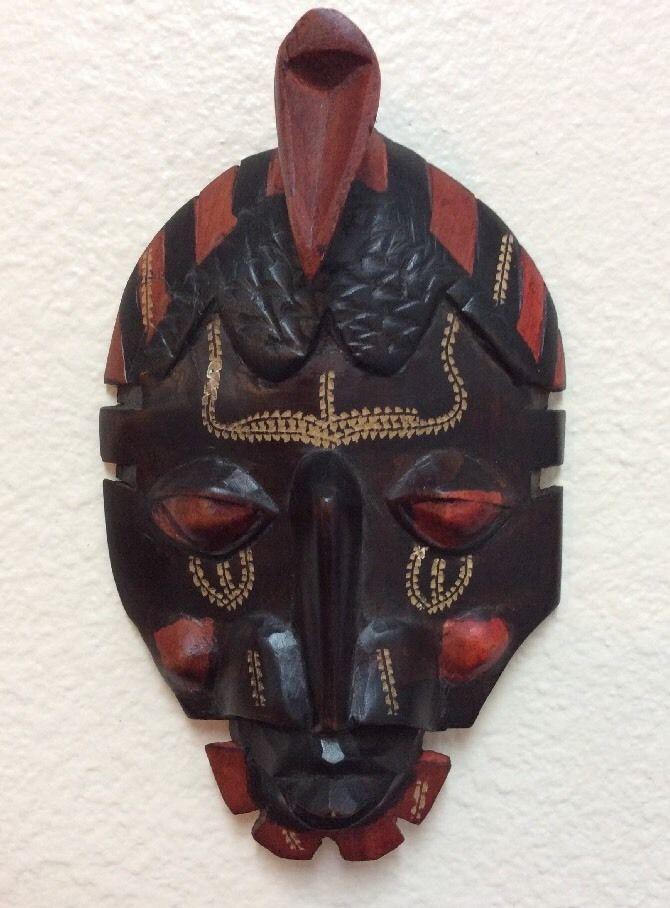 Hand Carved African Mask Made in Kenya   eBay