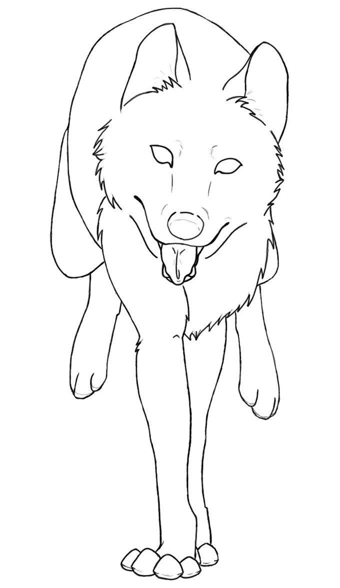 Free Wolf Run Lineart By Behindclosedeyes00 Jpg 680 1175 Anime Wolf Drawing Dog Drawing Anime Wolf
