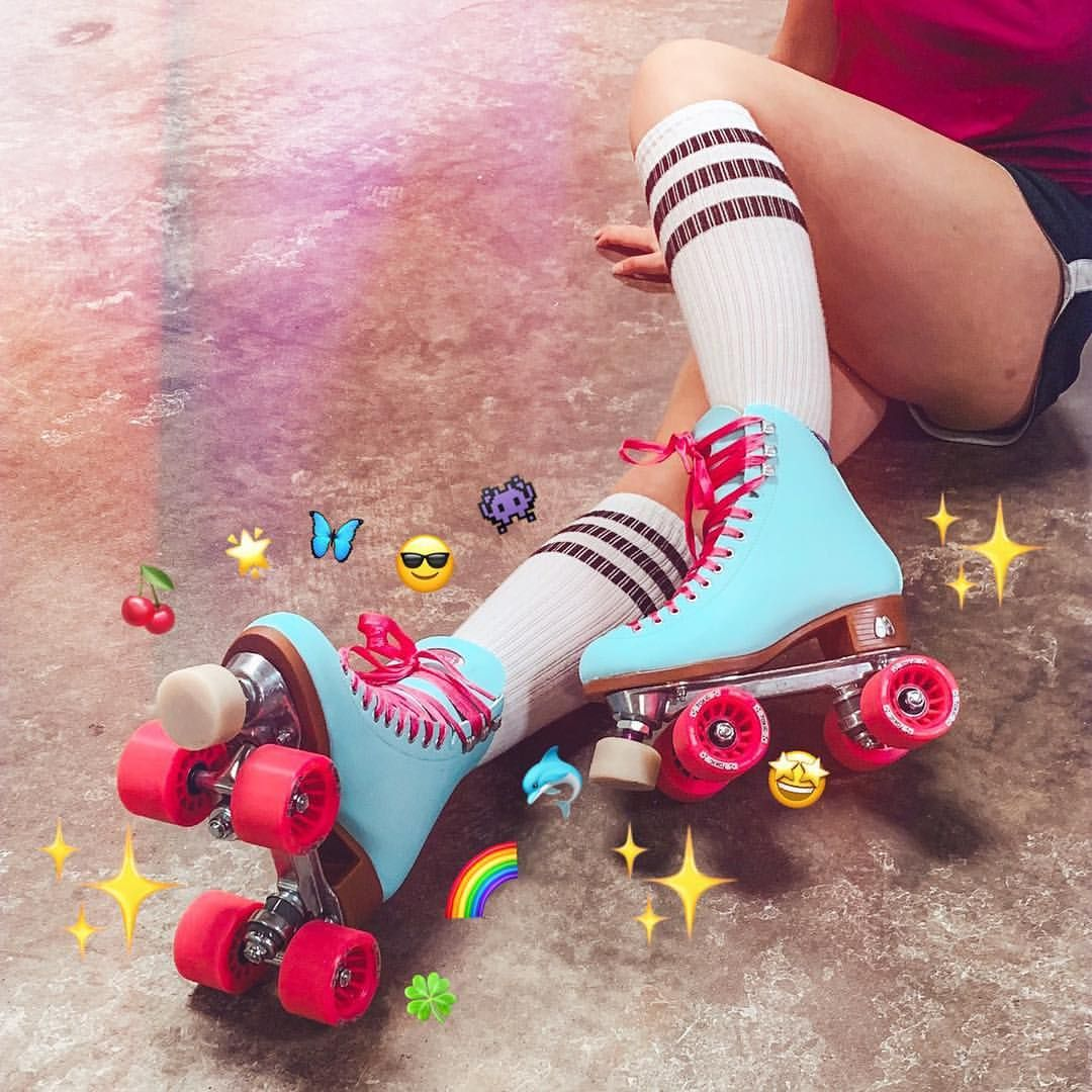 Moxi Skates Turquoise Hot Pink Roller Skates Groovy Emilee M Hall On Instagram She Was A Sk8r Pink Roller Skates Retro Roller Skates Roller Skaters