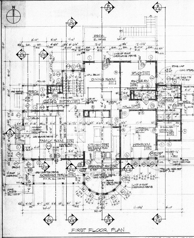 Floor Plan Construction Document Residence