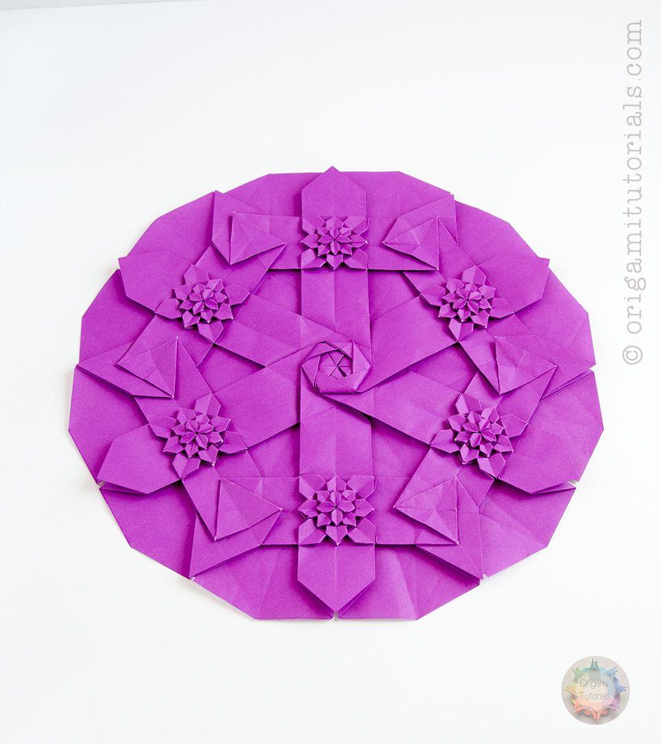 Origami Hydrangea Hydringea Tessellation Origami Pinterest