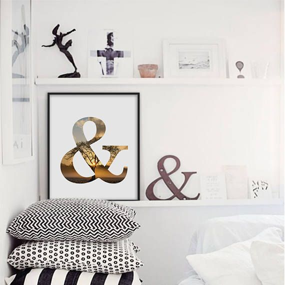 Ampersand Wall Decor ampersand print, and sign, home decor wall art, ampersand poster