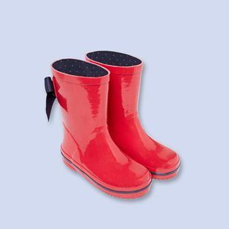 bottes de pluie fille rouge paris