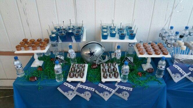 Dallas Cowboys Dessert Table Dallas Cowboys Birthday Party Dallas Cowboys Birthday Dallas Cowboys Party