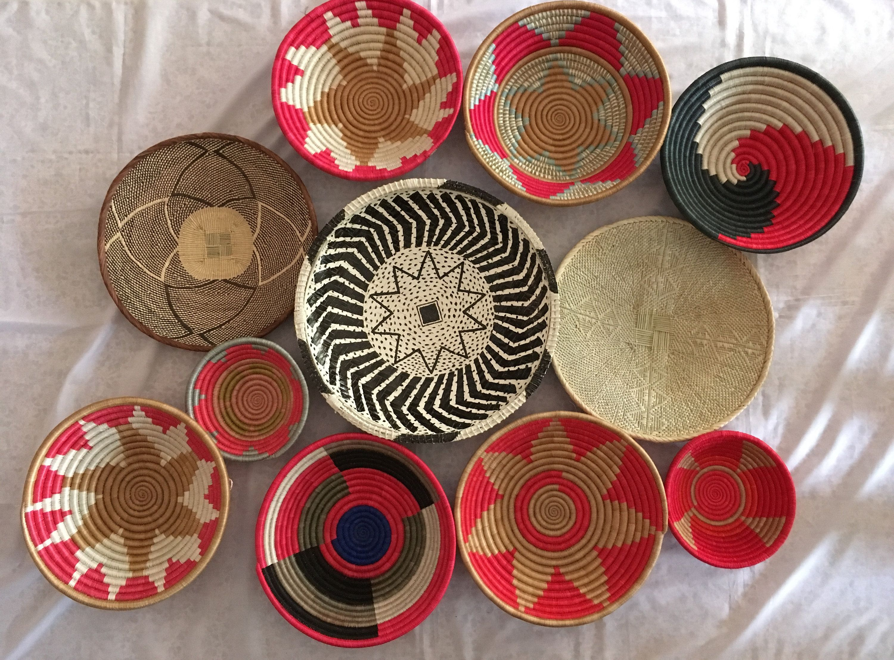 African Baskets Shop Grouping Baskets Wall Hanging Baskets Decor Vintage Baskets Decoration Wall Decoration Baskets Handcrafted Baskets African Basket Decor African Baskets Baskets On Wall