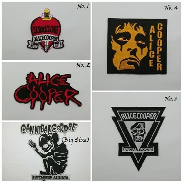 Alice Cooper Patch Sew or Iron On