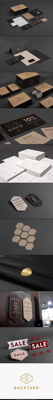 backyard corporate identity business card letter head bag design