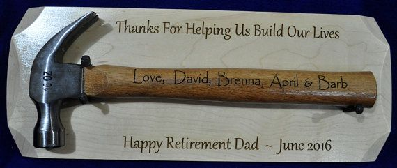 Retirement Gift For Dad Personalized