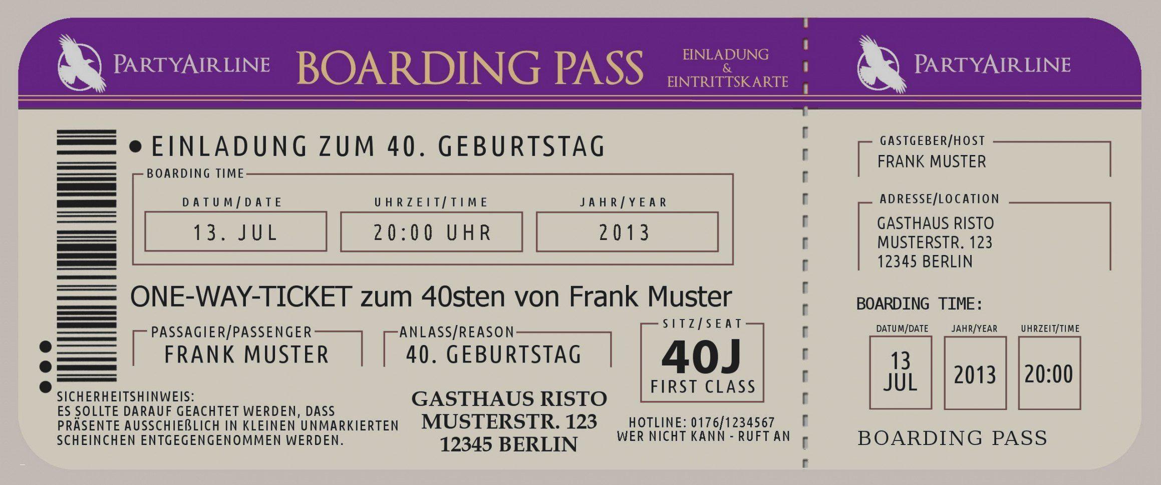 einladungskarten 40 geburtstag vorlagen kostenlos Elegant Tolle