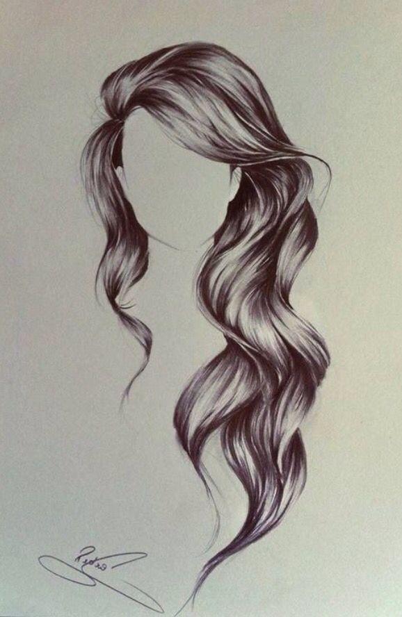 Long Wavy Hair How To Draw Hair Long Hair Styles Hair Hacks
