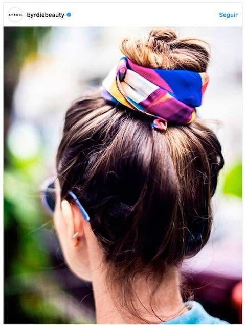 peinados fáciles con pañuelo verano #peinadosfaciles Peinados
