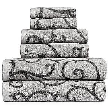Royal Velvet Leaf Scroll Bath Towel Jcpenney With Images