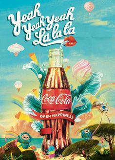 Coca Cola I love it! on Pinterest | Coca Cola, Coke Ad and Vintage ...