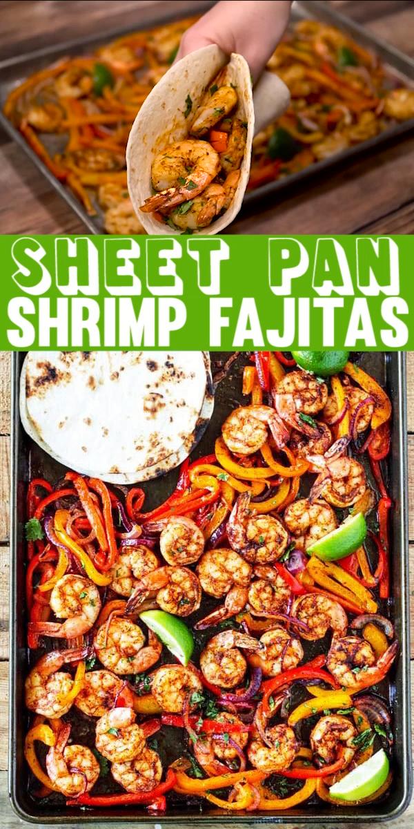 Photo of Sheet Pan Shrimp Fajitas –  This shrimp fajita recipe is seriously so easy and d…