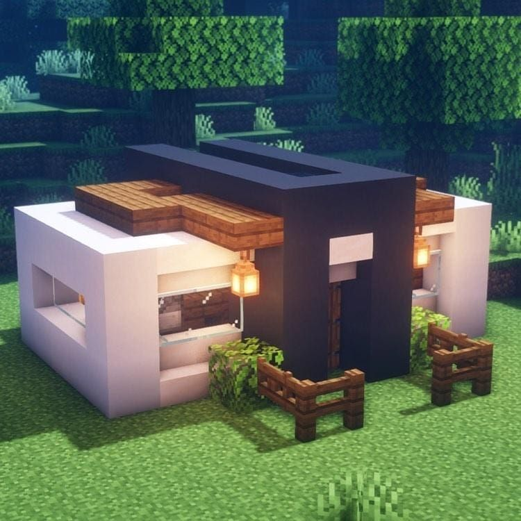 """minecraftchitects on Instagram """"Cool mini modern house This house is quite small and reasonably basic however it has all the necessary features for a good modern house …"""""""