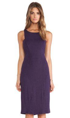 Heather Seamed Midi Dress in Heather Eggplant   REVOLVE