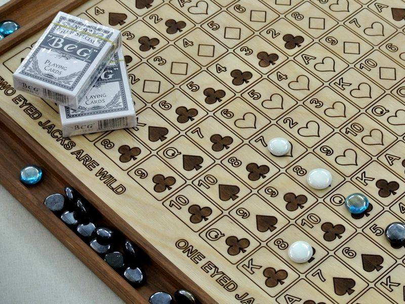 Sequence wooden game board Wooden games
