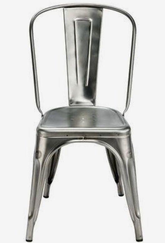 Chaise Industriel Couleur Mtal Bross De Style Tolix