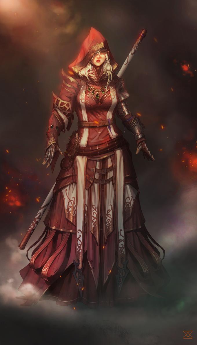 Helena Thsika Baraon IV, Nobre de Míriades e herdeira do ducado de Baraon. Expedicionária e professora dos departamentos Arcano e Artes Furtivas.
