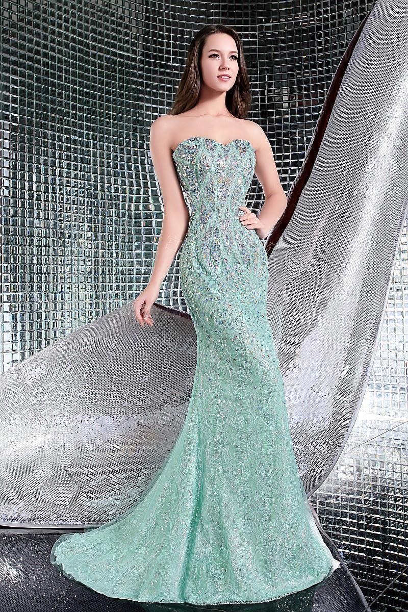 $374.79 Dresswe.com SUPPLIES Luxurious Beading Strapless Mermaid ...