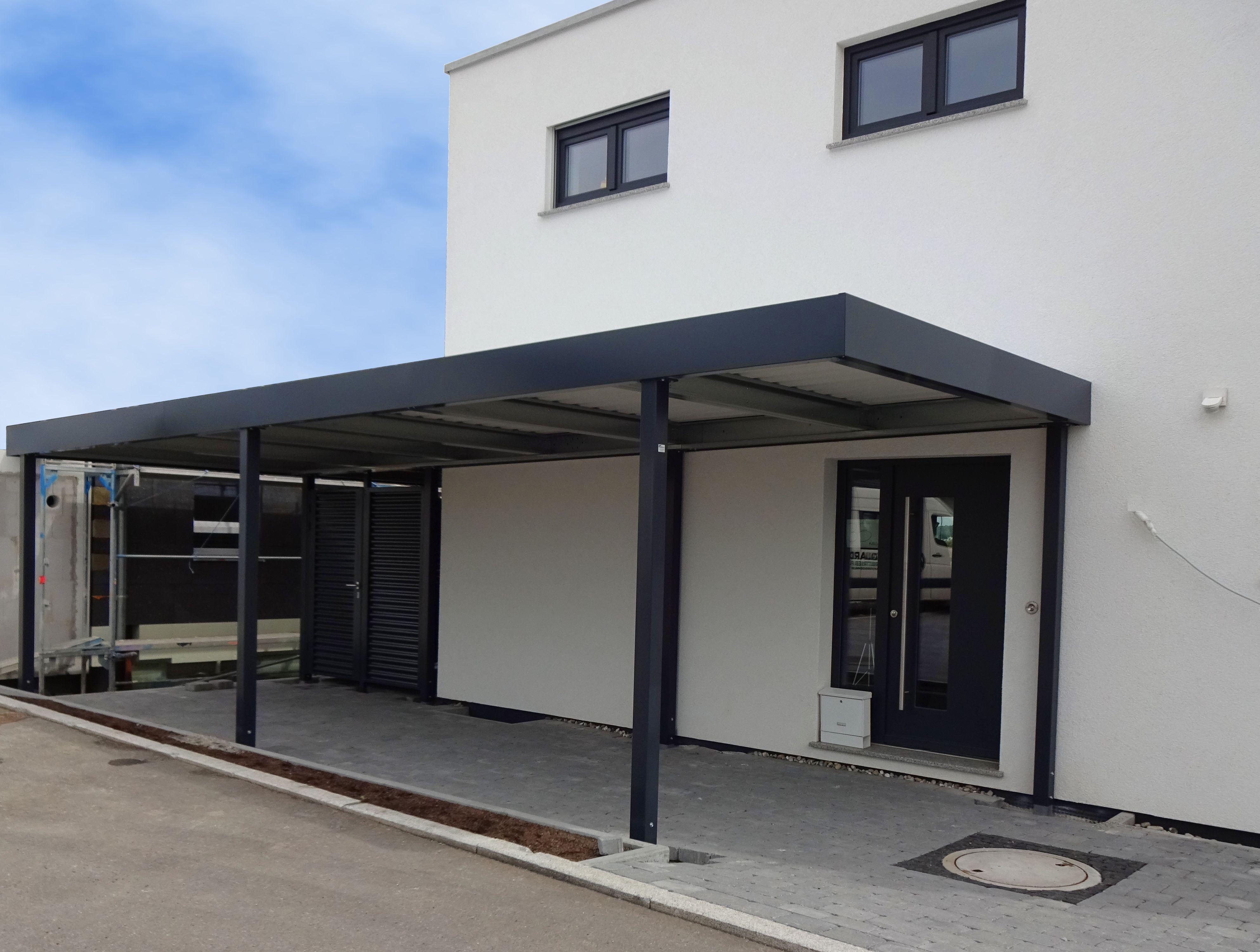Myport Vordach Und Carport Kombination Carport Carport Stahl Carport Modern