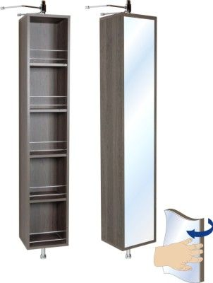 Zola Mezzo Turn Panel Rotating Mirror Open Shelf Bathroom Vanity Units Bathroom Furniture Woo Bathroom Furniture Bathroom Units Bathroom Vanity Units