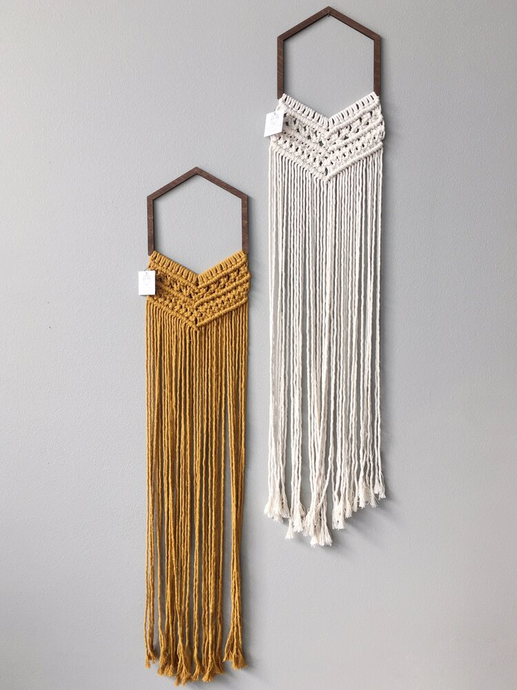 Hex Macrame Wall Hanging by Collectanea — ReRunRoom | Vintage Furniture + Home Decor