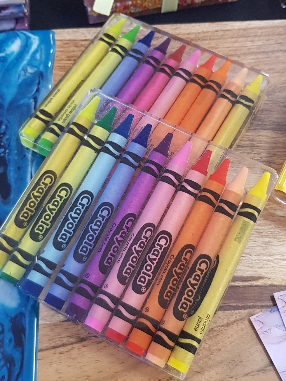 Great idea for a teachers gift crayon coaster crayons
