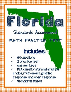 FSA Math Authentic Practice Test in 2019 | Products | Math
