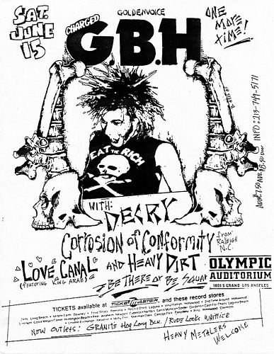 gbh with decry corrosion of conformity love canal heavy dirt at olympic auditorium los angeles 6 15 1985