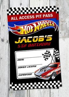 Hot Wheels Birthday Party Ideas Printable Pit by partyprintouts