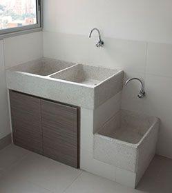 Lavadero con tanque lo accesible pinterest lavaderos for Lavadero de granito