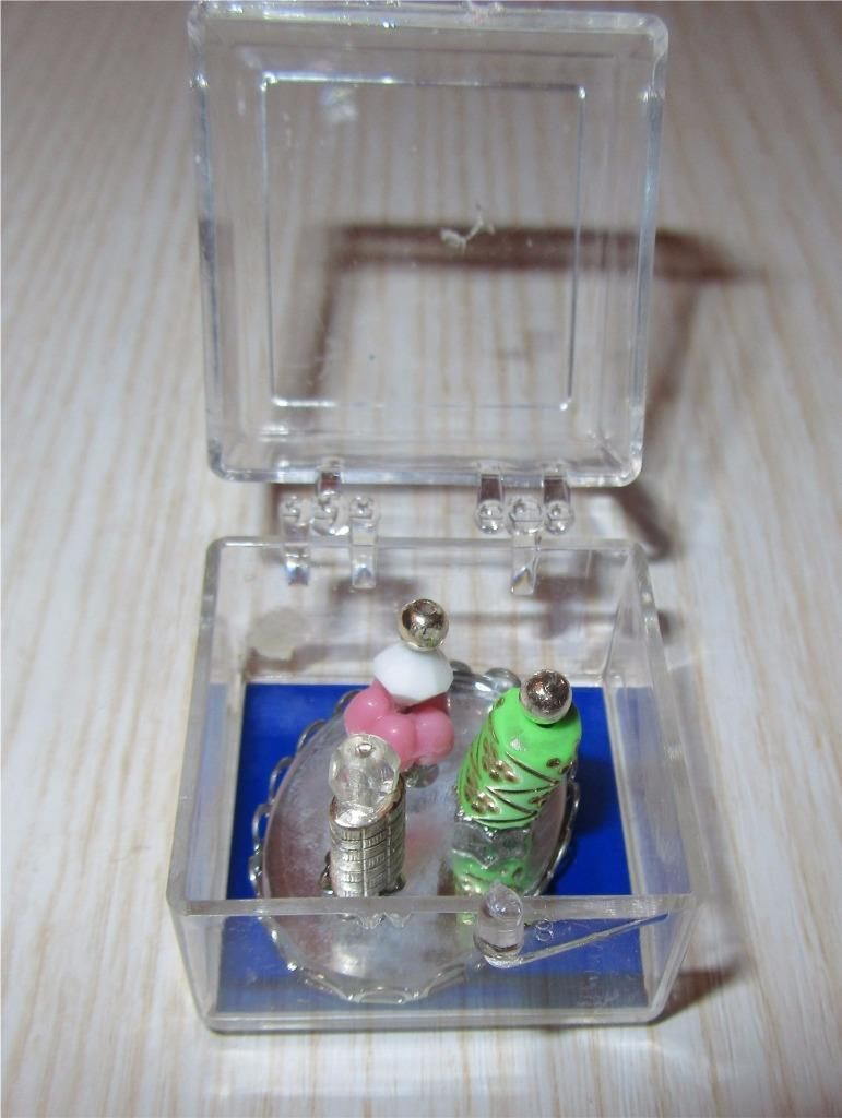 Dollhouse Miniature Chrysnbon Punch Bowl Set Filled ~ CB121P