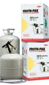 Spray Foam Insulation Kit Dow Froth Pak 650 Fire Rated 650 Sq Ft