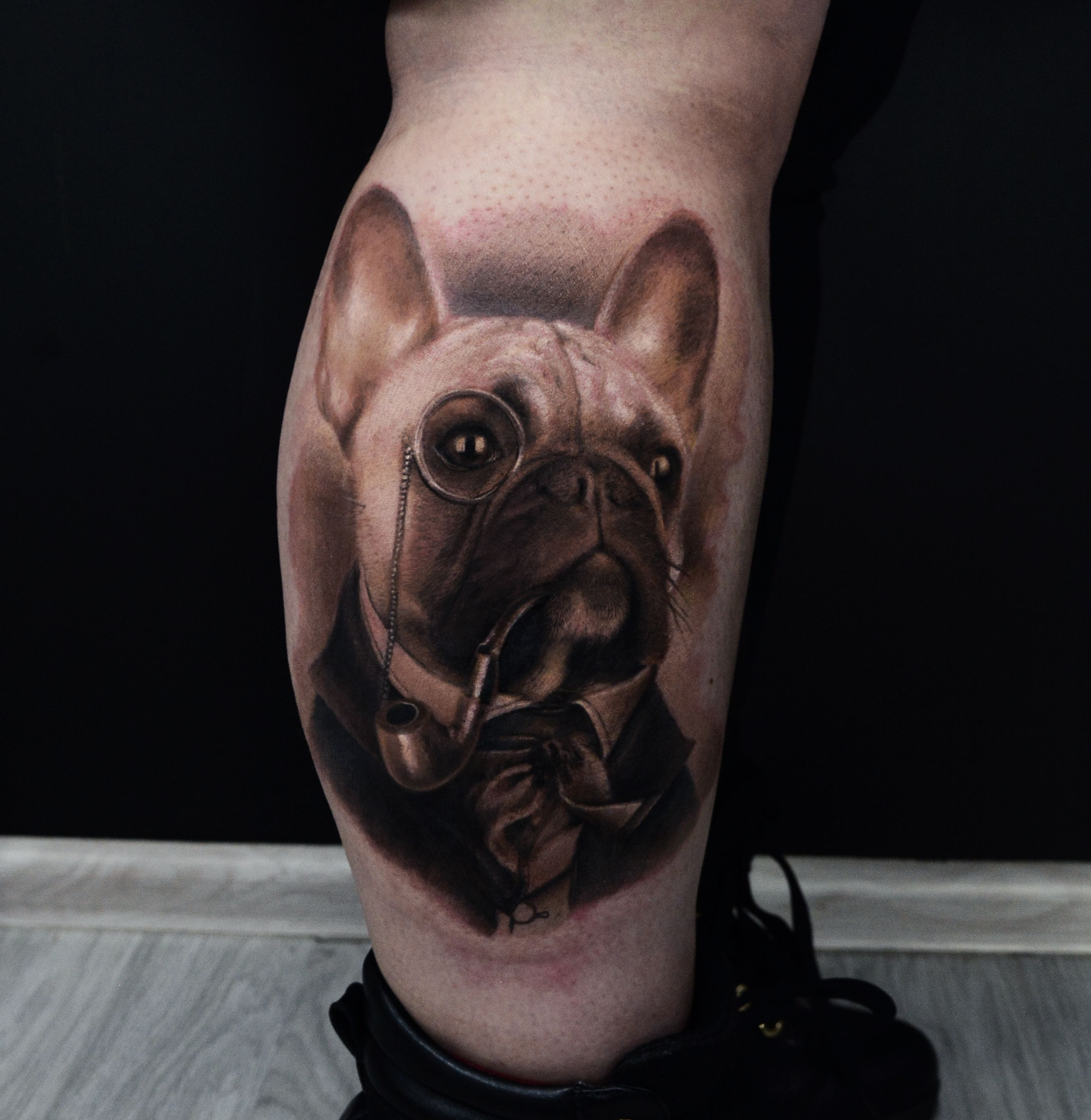 French Bulldog Tatto By Karol Rybakowski Ink Ognito Rybnik